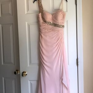 Faviana Glamour size 10 blush pink evening gown